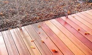 Detal tarasu drewnianego zdjęcie ścieżki