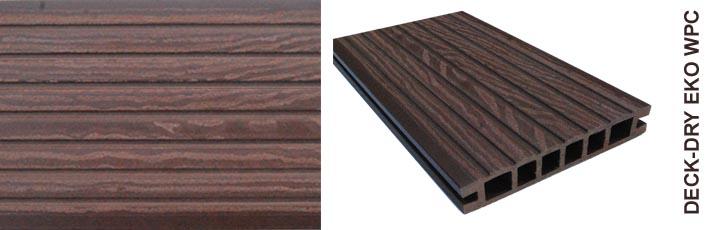 Deska tarasowa eko wpc kompozytowa ciemny brąz gruby wzory