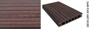 Deska tarasowa eko wpc kompozytowa ciemny brąz gruby wzór