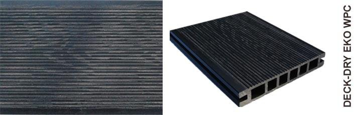 Deska tarasowa eko wpc kompozytowa czarny drobny wzór