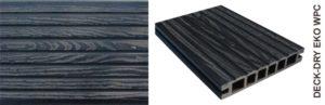 Deska tarasowa eko wpc kompozytowa czarny gruby wzór