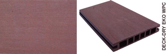 Deska tarasowa eko wpc kompozytowa jasny brąz gładka szczot