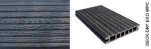 Deska tarasowa eko wpc kompozytowa szary gruby wzór