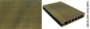 Deska tarasowa eko wpc kompozytowa zółty drobny szczot
