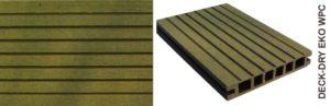 deska tarasowa eko wpc kompozytowa zółty gruby szczot