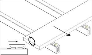 Katalog - montaż deski w klipsach - zdjęcie