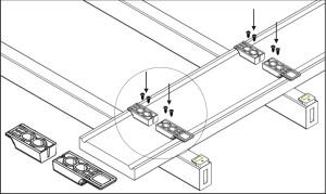 Katalog - montaż mocowania pod deską - zdjęcie