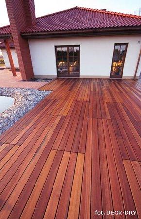 pomysł na taras - taras z drewna egzotycznego