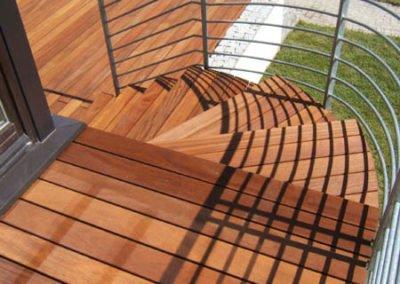 Schody drewniane i Balustrada przy schodach