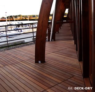 Taras drewniany DECK-DRY - deska tarasowa bangkirai