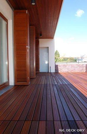 Taras drewniany widok z dachu