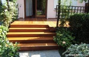 Deska Tarasowa bangkirai na schodach