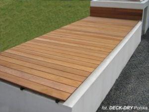Ławki drewniane Taras DECK-DRY Deska tarasowa iroko