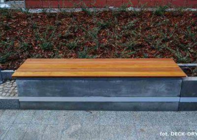 Ławki drewniane Garnizon