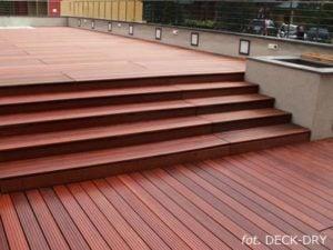 Deska Tarasowa i ładne schody DECK-DRY