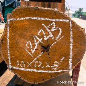 Drzewo w fazie Surowca na Deski Tarasowe - plan