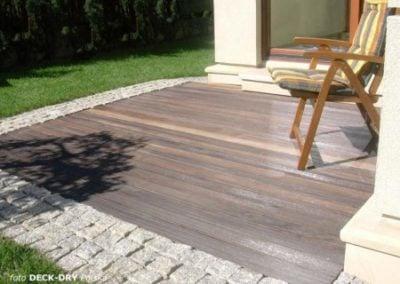 Drewniane Meble Ogrodowe i Podłoga na Taras