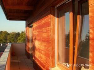 Pomysły i Zdjęcie - wnęka okienna elewacja drewniana
