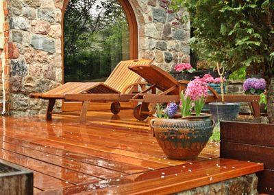 Ładne Tarasy podłogi z drewna egzotycznego