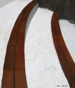 Ławka Drewniana po łuku