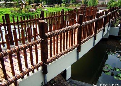 Mostek Balustrada Drewniana