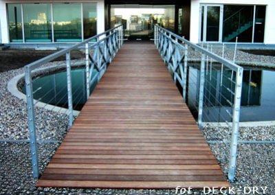 Mostek Drewniany Ogród