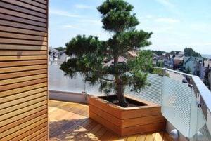 Donica drewniana i elewacja