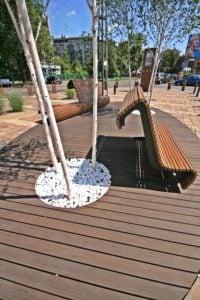 deski tarasowe - Pomysł w Parku miejsce wypoczynku seaka tarasowa ryflowana