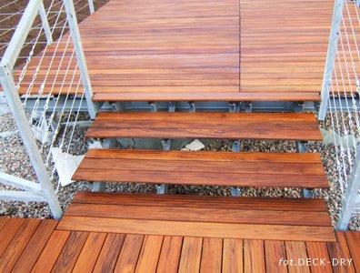 Schody Tarasowe Deck-Dry na ruszcie stalowym