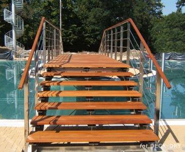 Schody Tarasowe Deski nad basenem