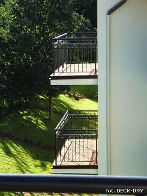 Taras na balkonie - ładny taras