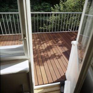 taras na balkonie