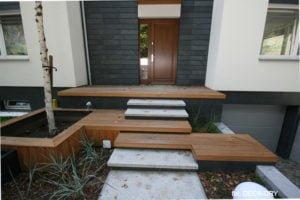 Aranżacje Tarasu ze schodami Deska Tarasowe zdjęcie