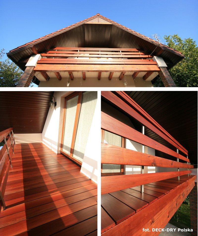 Balustrady na Balkon Drewniany Deck-Dry zdjęcie