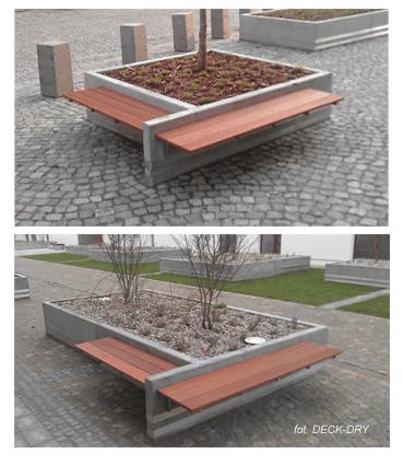 Układanie Deski Tarasowej — przykład ławki Bangkirai