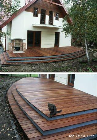 Podłogi Z Drewna Egzotycznego W Domu Na Zewnątrz