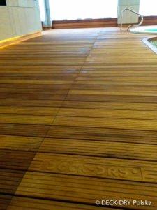 Deski Tarasowe na Basenie iroko Deck-Dry