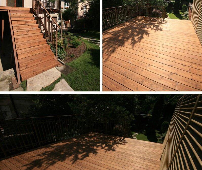 Montaż tarasu drewnianego i schodów Katowice Śląsk