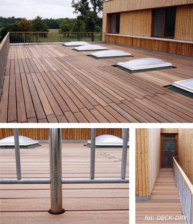 Drewniane Taras Deck Gretingi Trapy