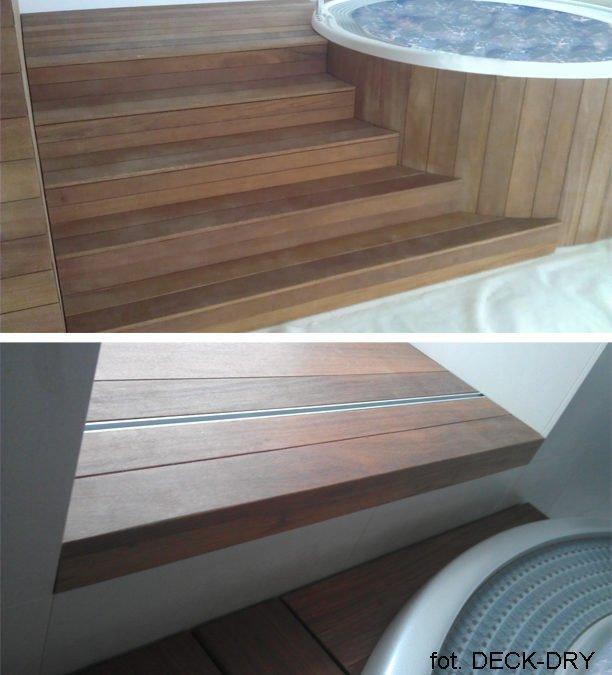 Deska egzotyczna w  Jacuzzi, spa, basen, sauna