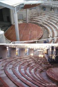 Drewno tarasowe na scenie - Zdjęcie