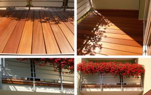 Drewno na balkon - Deski egzotyczne zdjęcie z realizacji