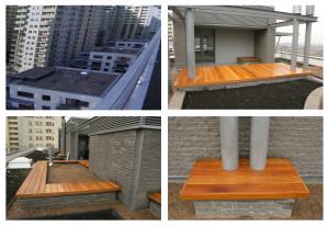 Zabudowy Tarasów, podesty z Drewna Egzotycznego Deck-Dry
