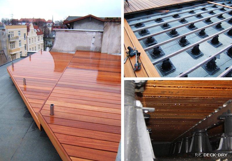 Tarasy z drewna na dachu – wielkopolska