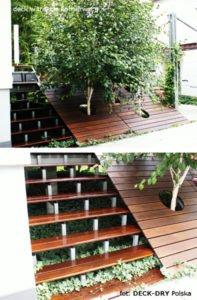 Montaż tarasu, schodów w ogrodzie