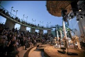 Podłoga Drewniana na scenie - zdjęcie