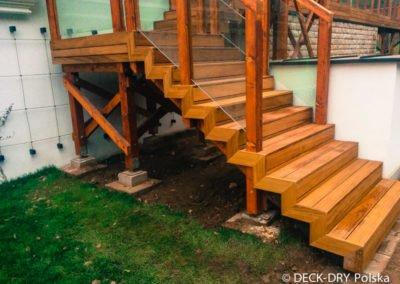 Schody drewniane iroko Deck-Dry