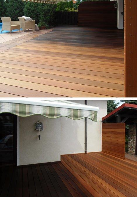 Tarasy drewniane zadaszenia — markizy pomorskie, mazowieckie