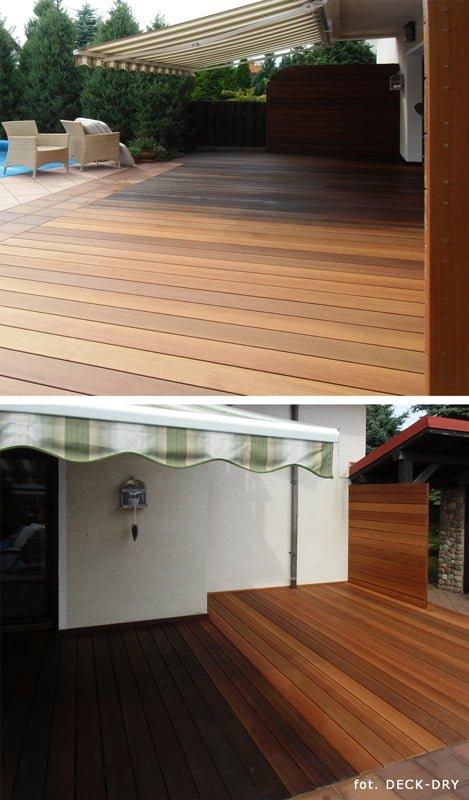Tarasy drewniane zadaszenia - markizy pomorskie, mazowieckie