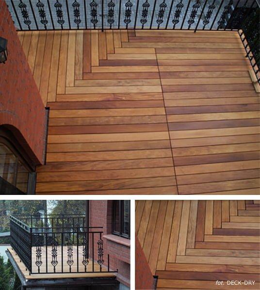 Deski Tarasowe Na Balkonie Drewno Egzotyczne Garapa